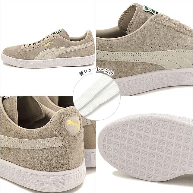 Puma men gap Dis sneakers suede cloth classic positive PUMA SUEDE CLASSIC + oatmeal white (356,568 80 SU16) shoetime