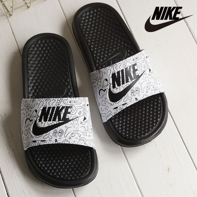 4e683925d67f Nike Lady s shower sandal ウィメンズベナッシ JDI print NIKE WMNS BENASSI JDI PRINT  black   black   white (618