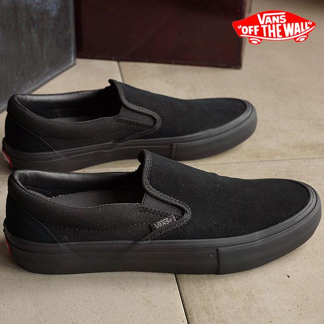 【月間優良ショップ】バンズ スリッポン プロ VANS スニーカー 靴 SLIP-ON PRO BLACKOUT (VN00097M1OJ)【コンビニ受取対応商品】