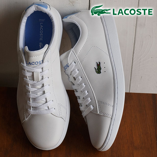 eca0692e504074 ラコステカーナビーエヴォ LACOSTE Lady s sneakers CARNABY EVO WMN white   blue  (WSJ029-AKG SS16) shoetime