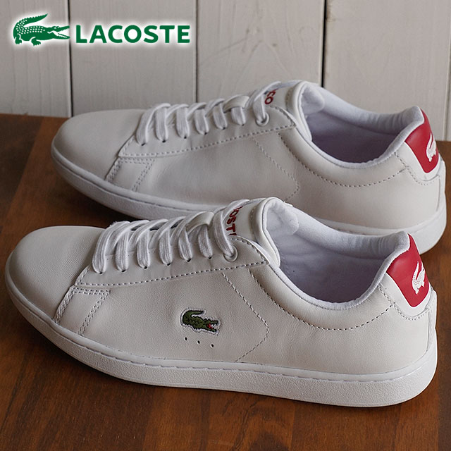 fac8386d9433 ... Lacoste Carnaby Evo LACOSTE Womens sneakers CARNABY EVO WMN white red  (WSJ029-286 SS16 ...