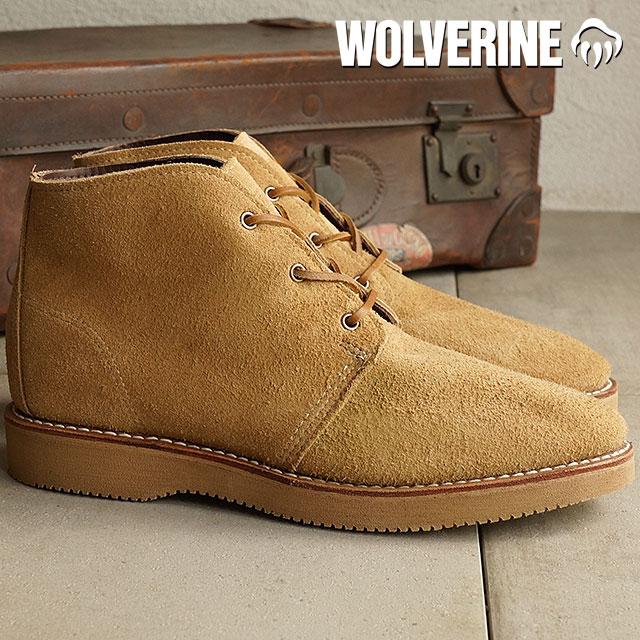 d20a3821727 Wolverine Palmer chukka boot WOLVERINE Wolverine men's PALMER CAMEL SUEDE  (W40134)