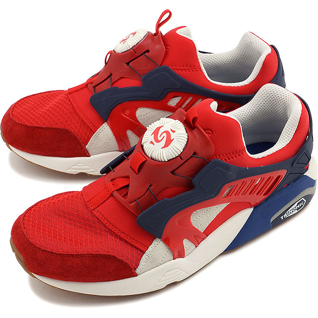 Puma mens Womens sneakers disc blaze athletic PUMA DISC BLAZE ATHL high  risk red   white (360860-01 SS16) 0bfd47b46
