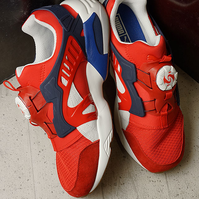 SHOETIME  Puma mens Womens sneakers disc blaze athletic PUMA DISC BLAZE  ATHL high risk red   white (360860-01 SS16)  76c0b0aa9