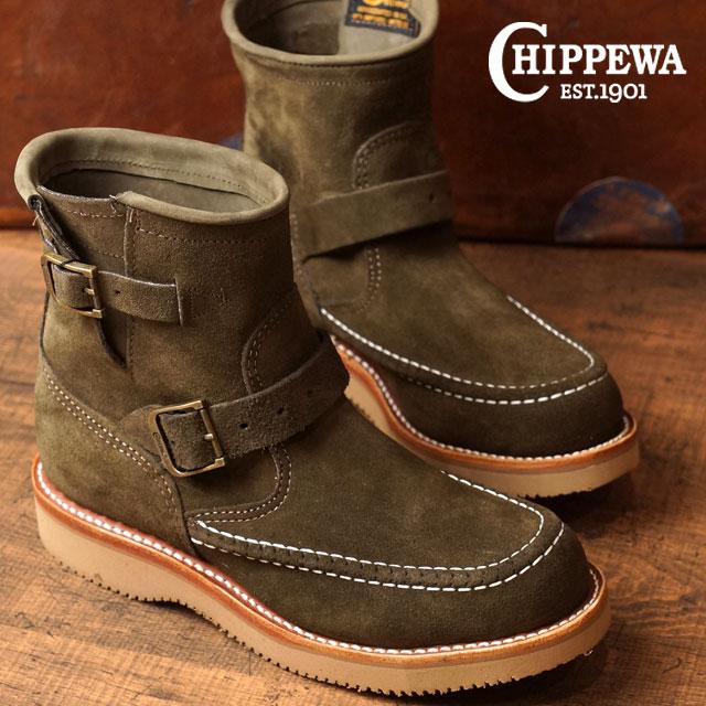 【在庫限り】チペワ ウーマンズ 7インチ ハイランダーズ ブーツ CHIPPEWA レディース 革靴 womens 7-inch highlanders boots Mワイズ チョコレートモス (CP1901W10)【ts】【コンビニ受取対応商品】