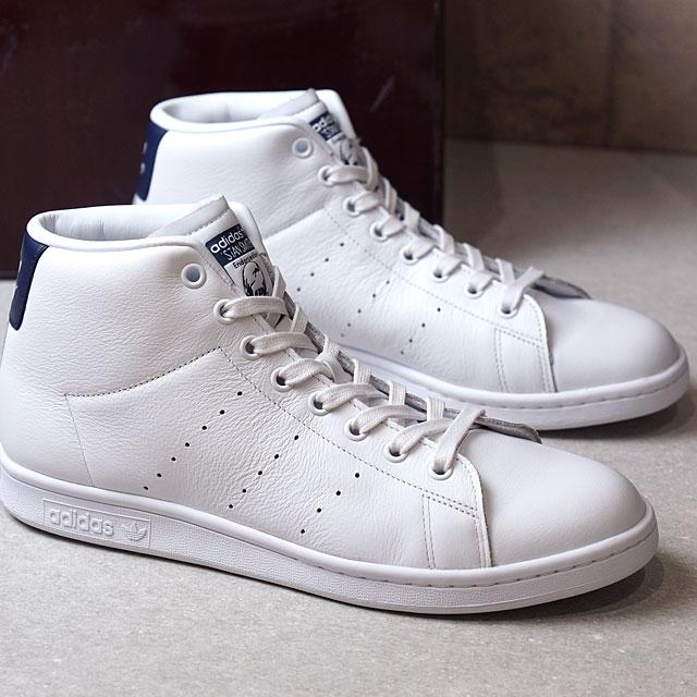 Adidas originals Stan Smith mid cut adidas Originals STAN SMITH MID R white R white dark blue (BB0070 SS17) shoetime