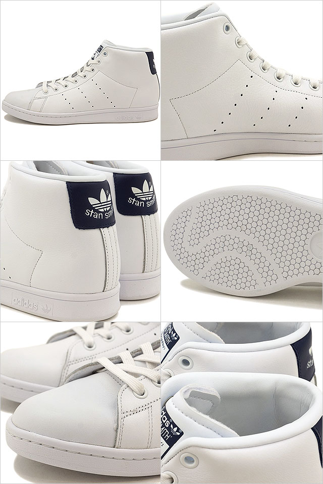de7b7045eec88c Adidas originals Stan Smith mid cut adidas Originals STAN SMITH MID R white   R white   dark blue (BB0070 SS17) shoetime