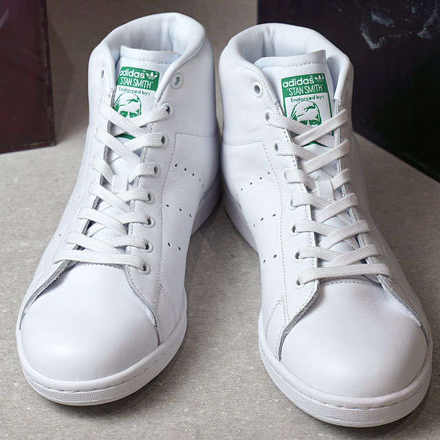0e23bc54b0203a SHOETIME  Adidas originals Stan Smith mid cut adidas Originals STAN SMITH  MID R white  R white   green (BB0069 SS17)