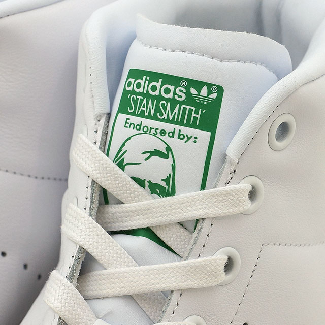 4d51e86abcbcea Adidas originals Stan Smith mid cut adidas Originals STAN SMITH MID R white   R white   green (BB0069 SS17)