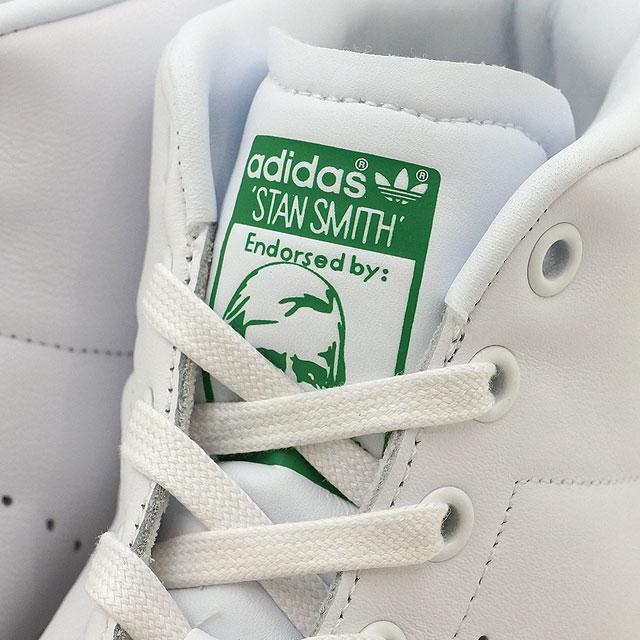 Adidas originals Stan Smith mid cut adidas Originals STAN SMITH MID R white   R white   green (BB0069 SS17) 314e4244a
