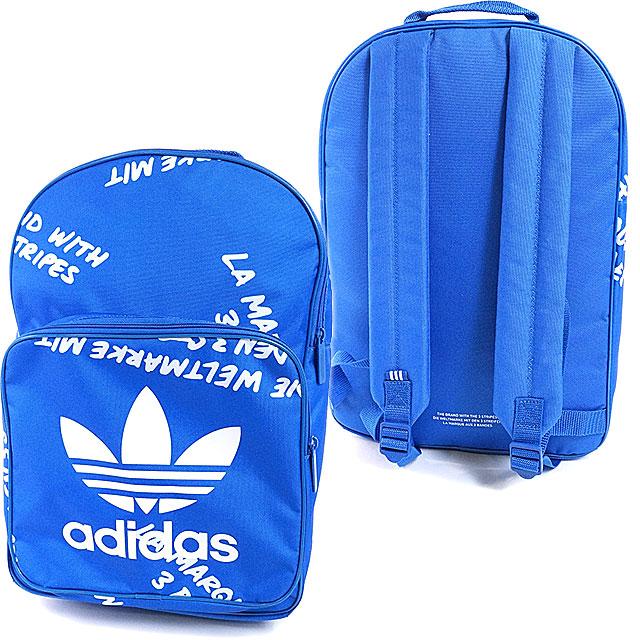 adidas Originals Adidas originals BACKPACK CLASSIC GRAPHIC men gap Dis  backpack classical music graphic rucksack blue   white (BK2162 SS17) cc58dbd59aa8d