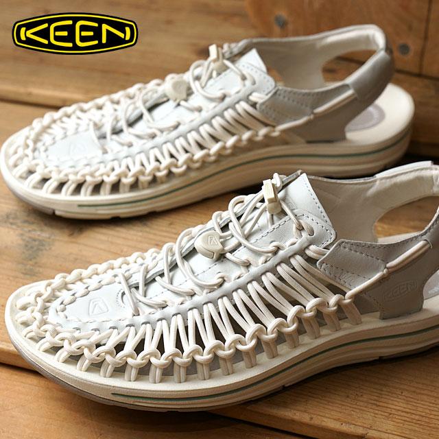 【即納】【限定モデル】KEEN キーン ユニーク レザー サンダル 靴 メンズ UNEEK LEATHER MNS White/Star White (1017062 SS17)【コンビニ受取対応商品】