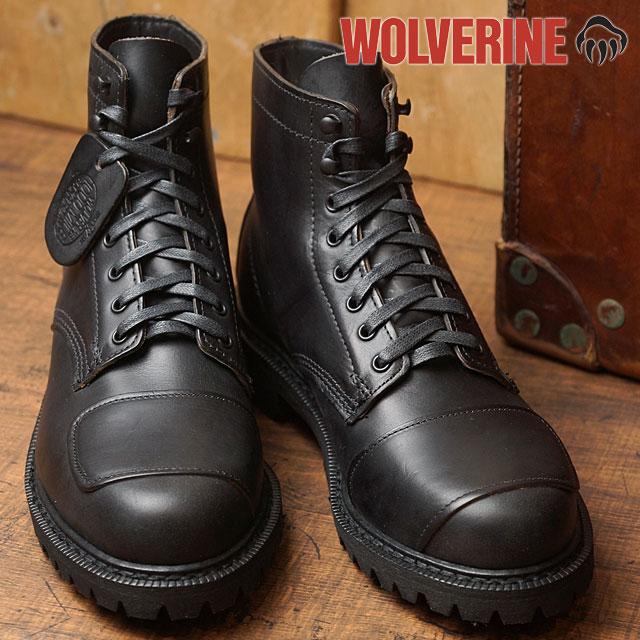 283fdb00ad2 WOLVERINE 1000 MILE BOOT Wolverene 1,000 miles boots DYLAN MOTO BOOT  ディランモトブーツラギットソール BLACK shoes (W40300 SS17)