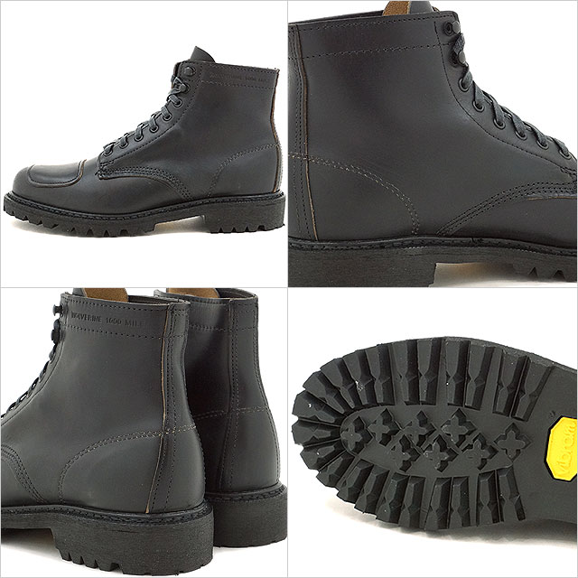 6c4ad1301b8 WOLVERINE 1000 MILE BOOT Wolverene 1,000 miles boots DYLAN MOTO BOOT  ディランモトブーツラギットソール BLACK shoes (W40300 SS17)