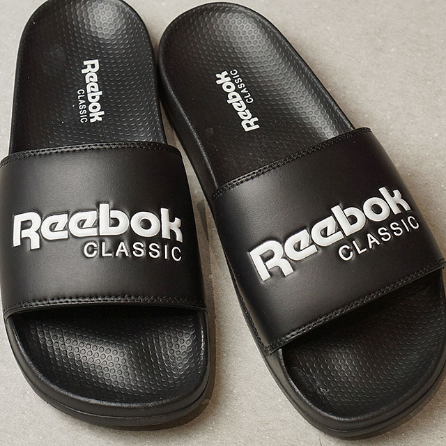 74a9db347e36 Reebok CLASSIC Reebok classical music CLASSIC SLIDE classical music slide  black   white (BS7414 SS17)