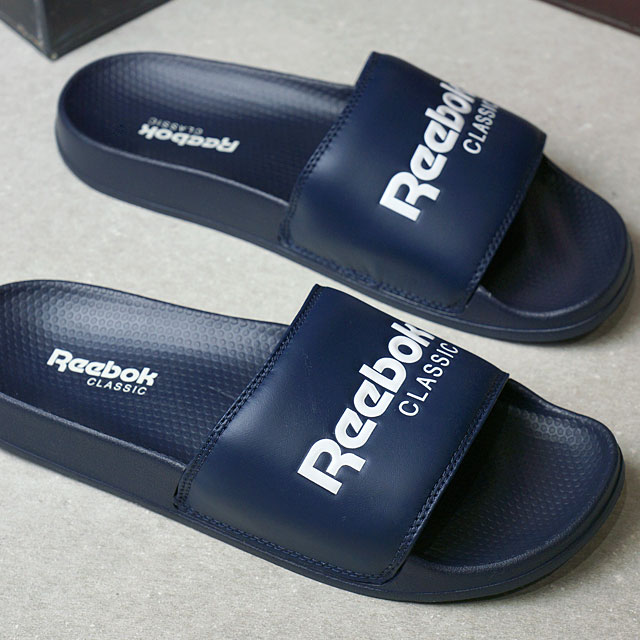 b67c78244d0c Reebok CLASSIC Reebok classical music CLASSIC SLIDE classical music slide  college navy   white (BS7415 SS17)