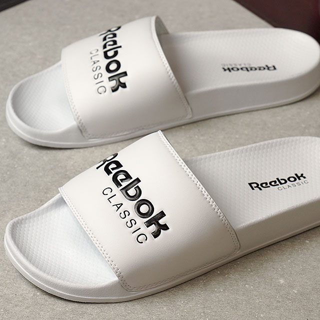 8ccfb86bca1fa Reebok CLASSIC Reebok classical music CLASSIC SLIDE classical music slide  white   black (BS7417 SS17)