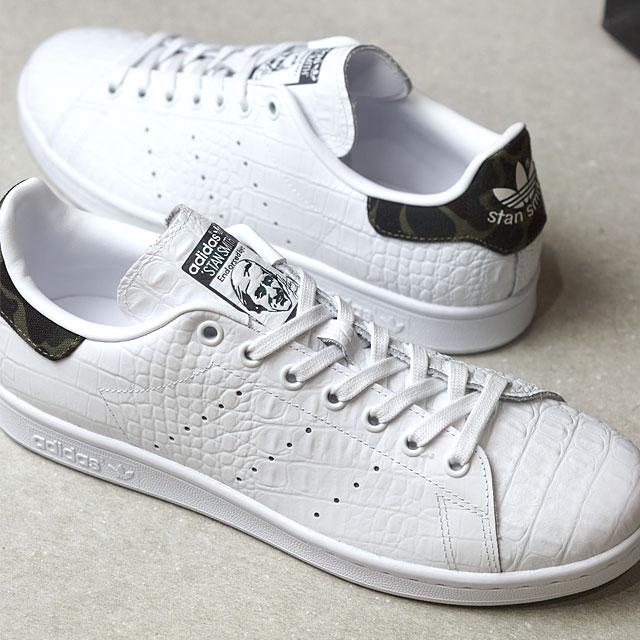 adidas Originals阿迪达斯原始物STAN SMITH人分歧D Stan Smith R白/C黑色/C黑色(BA7443 SS17)