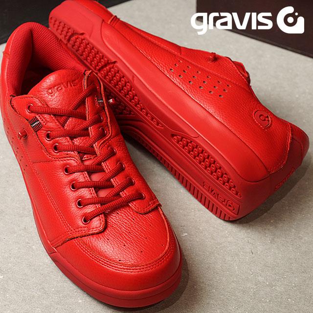 【即納】gravis グラビス メンズ レディース Tarmac DLX ターマック デラックス RED MONO (1000 SS17) shoetime【コンビニ受取対応商品】