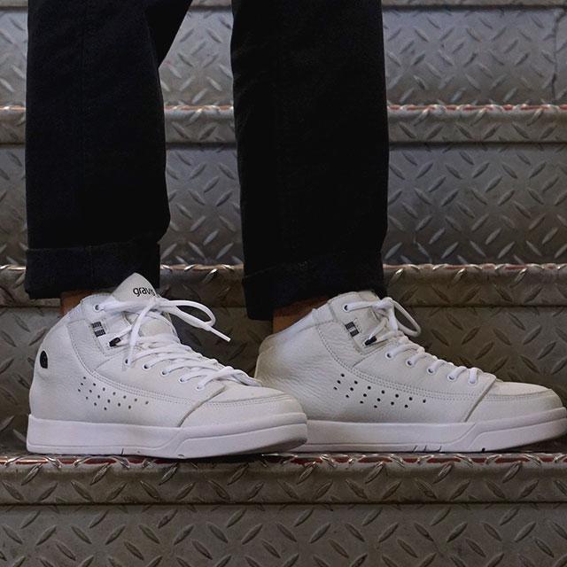 【月間優良ショップ】gravis グラビス メンズ レディース Tarmac HC DLX ターマック ハイカット デラックス WHITE/BLACK 靴 (1010)【コンビニ受取対応商品】