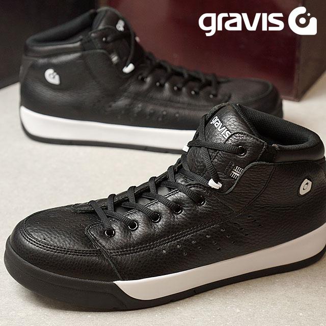 【月間優良ショップ】gravis グラビス メンズ レディース Tarmac HC DLX ターマック ハイカット デラックス BLACK/WHITE 靴 (1010)【コンビニ受取対応商品】