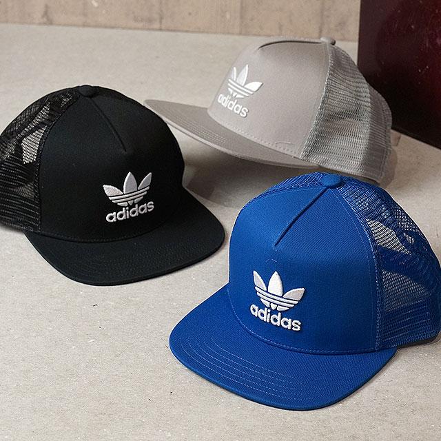 13f7b5dc adidas Originals Adidas originals TREFOIL TRUCKER CAP  メンズレディーストレフォイルトラッカーメッシュキャップ (BK7308/
