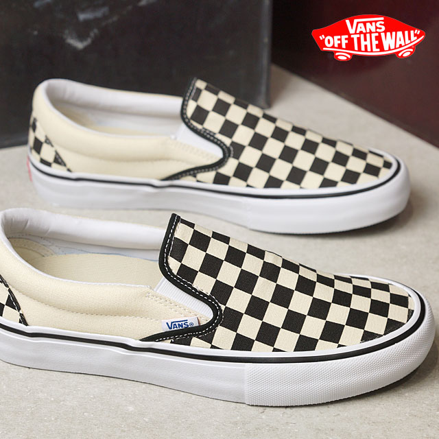 VANS vans SLIP-ON PRO CHECKER BOARD slip-on pro slip-ons checkerboard  BLACK/WHITE (VN0A347VAPK SS17)