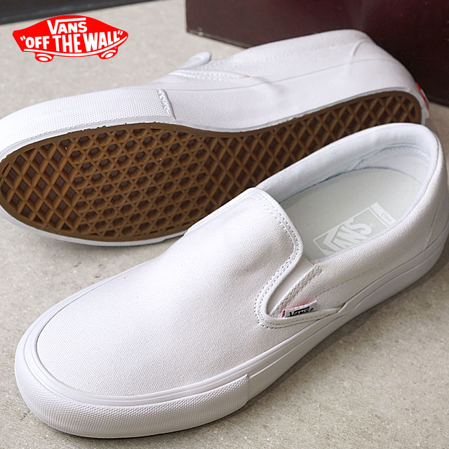 VANS vans SLIP-ON PRO slip-on pro slip-ons WHITE WHITE shoes (VN0A347VWWW  SS17) 2a10b9c5f