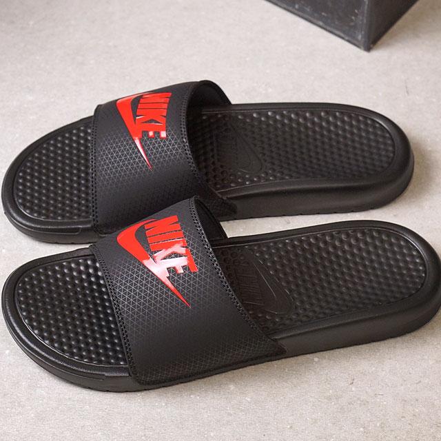 NIKE Nike men gap Dis slide sandal BENASSI JDI ベナッシ JDI black  C red ( 343 763d42059