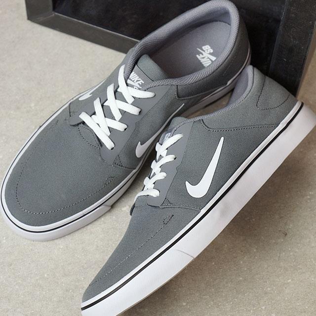 NIKE Nike men SB PORTMORE CNVS Nike SB port more canvas C gray   white    black (723 6dcdf7e0f