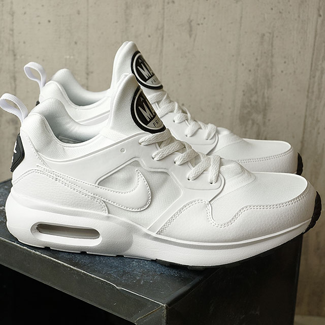 NIKE Nike men AIR MAX PRIME Air Max prime white white P platinum black (876,068 100 SU17) shoetime