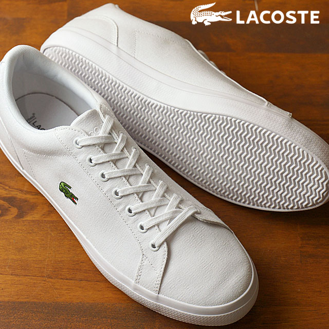 100% quality release date huge selection of LACOSTE Lacoste canvas sneakers LEROND BL 2 レロンドホワイト (MCM033-001 SS17)  shoetime