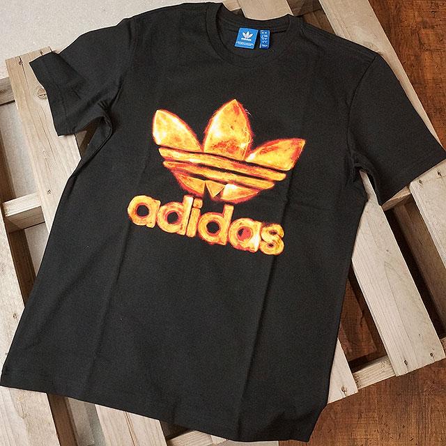 3e262d2e86639c adidas Adidas originals TREFOIL FIRE TEE メンズレディーストレフォイルファイヤー T-shirt  Originals (BQ3130 SS17)
