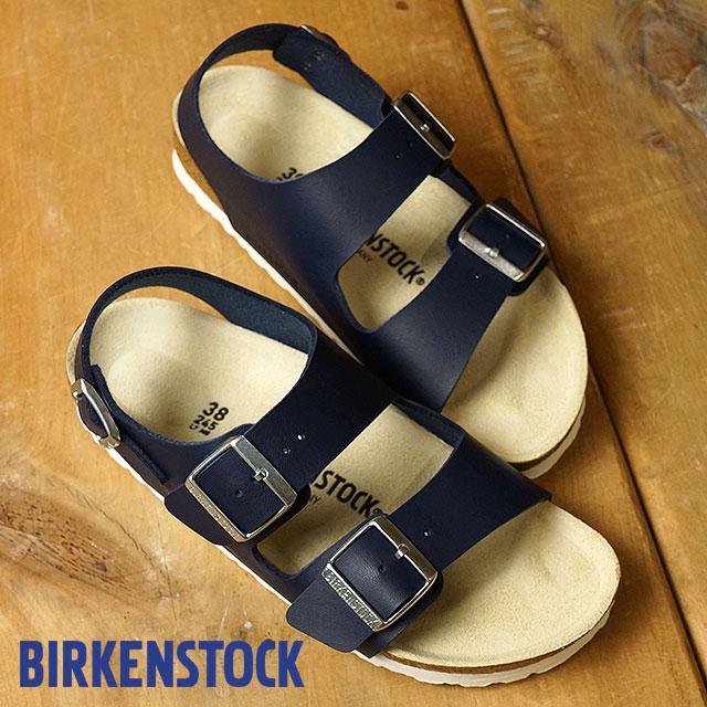 BIRKENSTOCK ビルケンシュトック メンズ レディース MILANO ミラノ ネイビー/ブルー 靴 (GC1006153 SS17)【e】