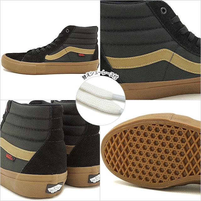 0df614d968 VANS X THRASHER vans slasher sneakers men SK8-HI PRO skating high  professional (スケハイ) BLACK GUM skating shoes (VN0A347TOTF FW17)