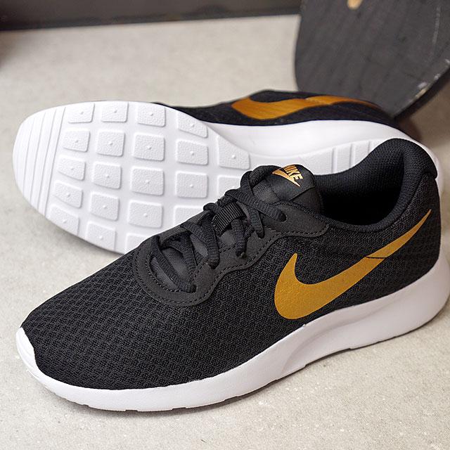 a32991492 NIKE Nike tongue Jun sneakers Lady's WMNS TANJUN women tongue Jun black / metallic  gold ...