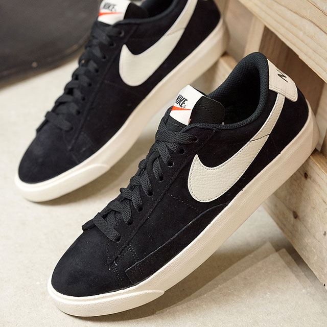 outlet store a6e58 8c481 NIKE Nike sneakers Lady's WMNS BLAZER LOW SD ウィメンズブレーザーロースエードブラック / sail  (AA3962-006 SS18)