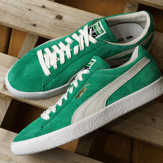 cheap for discount 9ac13 b493e green suede puma sneakers