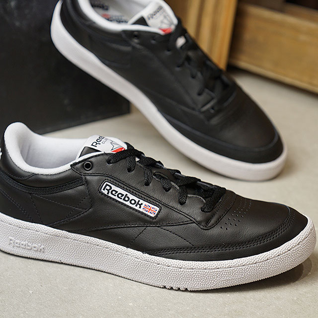 reebok club c 85 black white
