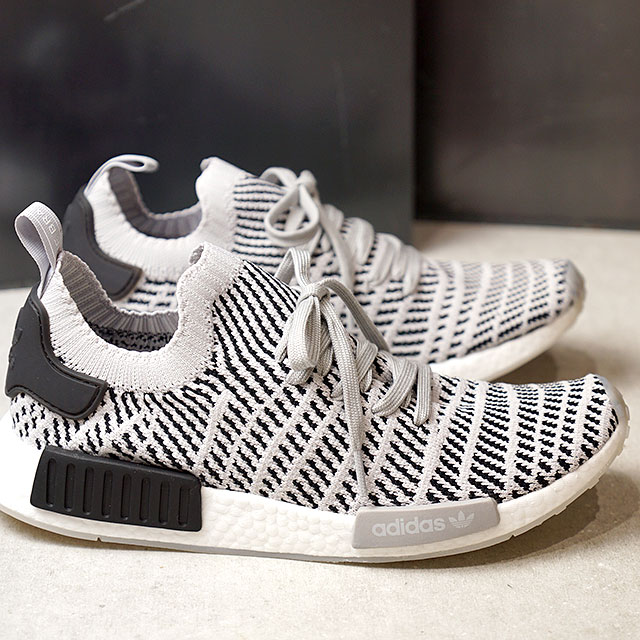 9f8851c2f adidas Adidas sneakers shoes men originals NMD R1 STLT PK N M D are 1 STLT  prime knit gray TWO F17  gray one F17  core black (CQ2387 SS18)