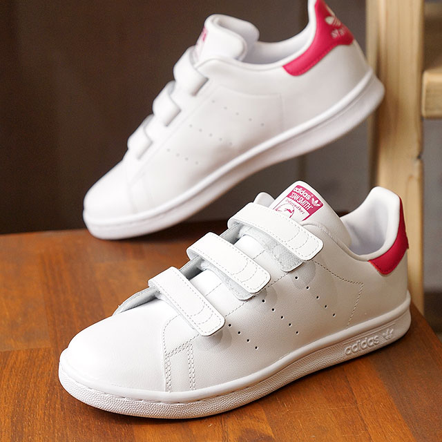 big sale 1c4a5 33c8b adidas Adidas sneakers kids originals STAN SMITH CF C Stan Smith comfort  Velcro children R white  R white   boldface pink (B32706 SS18)