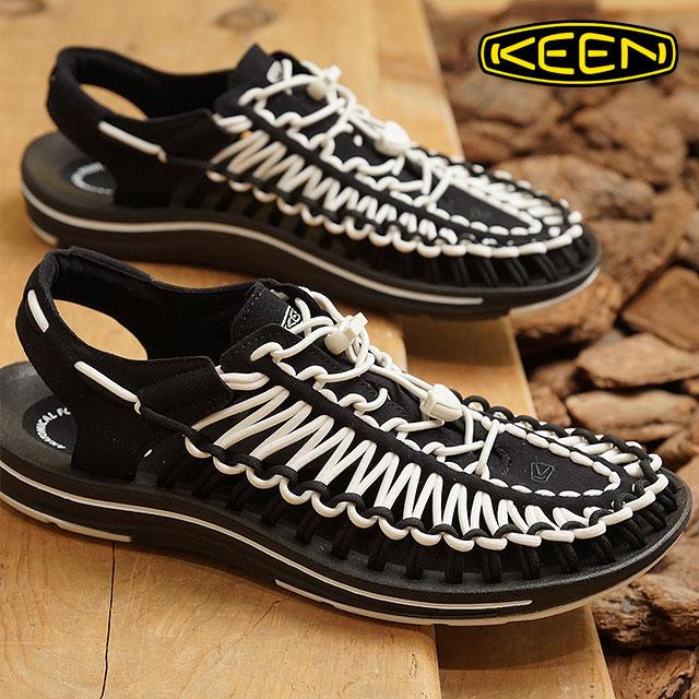 KEEN キーン ユニーク サンダル 靴 メンズ M UNEEK ユニーク Black/White (1019281 SS18)【ts】【e】