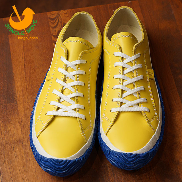 11582118e9 SPINGLE MOVE スピングルムーブメンズ Lady s leather sneakers shoes SPM-101 スピングルムーヴ  Yellow (SPM101-28 SS18)