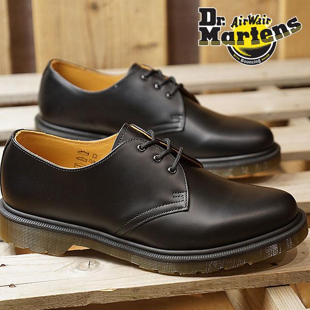 390dd7b9bb48 Dr.Martens doctor Martin boots 1461 PW plane welt 3EYE SHOE 3 hall shoes  BLACK black men Lady s (10078001 SS18)