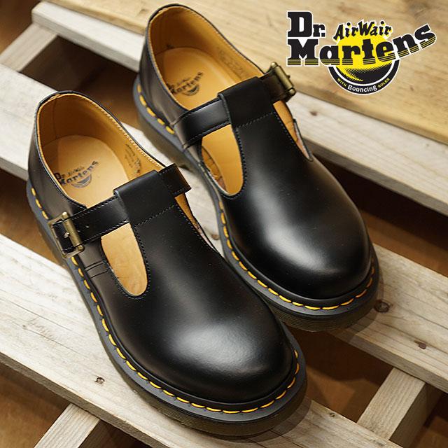 【月間優良ショップ】Dr.Martens ドクターマーチン ブーツ POLLEY T-BAR SHOES ポリー ティーバーシューズ BLACK ブラック レディース (14852001 SS18)【コンビニ受取対応商品】
