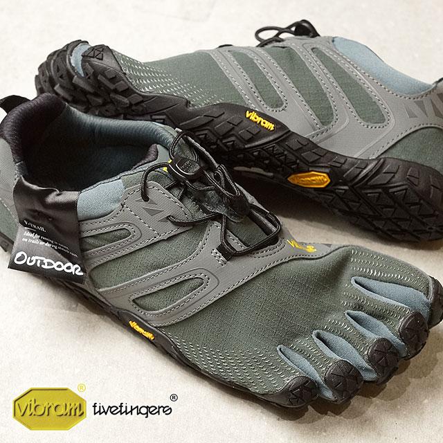 Vibram FiveFingers ビブラムファイブフィンガーズ メンズ スポーツシューズ V-Trail DarkGrey/Sage ビブラム ファイブフィンガーズ 5本指シューズ ベアフット 靴 (18M6901)【コンビニ受取対応商品】