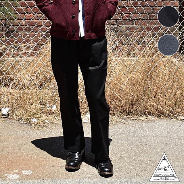 【在庫限り】BELLWOOD MADE ベルウッドメイド メンズ 4/5レングス 9分丈 ワイドパンツ ツイード WIDE AWESOME PANTS オーサムパンツ (BWPWS09 SS18)【e】【ts】【コンビニ受取対応商品】