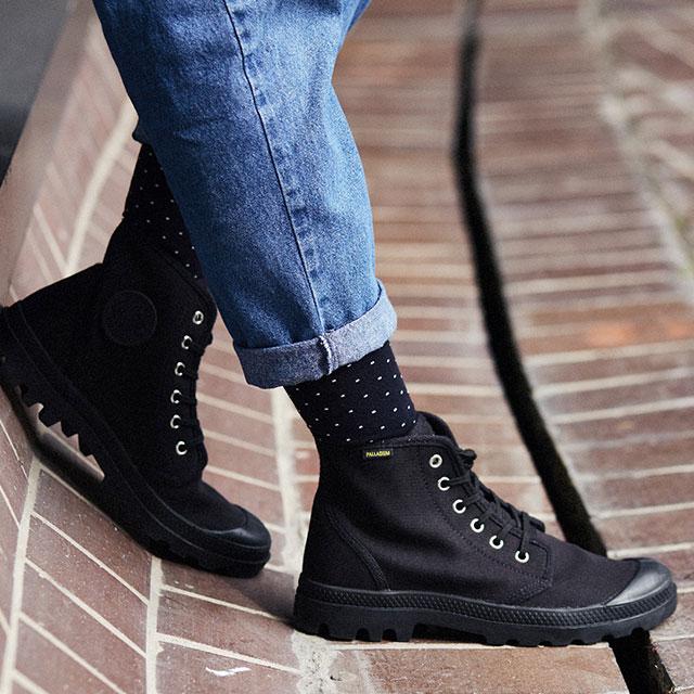 PALLADIUM palladium men gap Dis Pampa Hi Originale パンパハイオリジナーレ BlackBlack shoes (75,349 060 SS17)