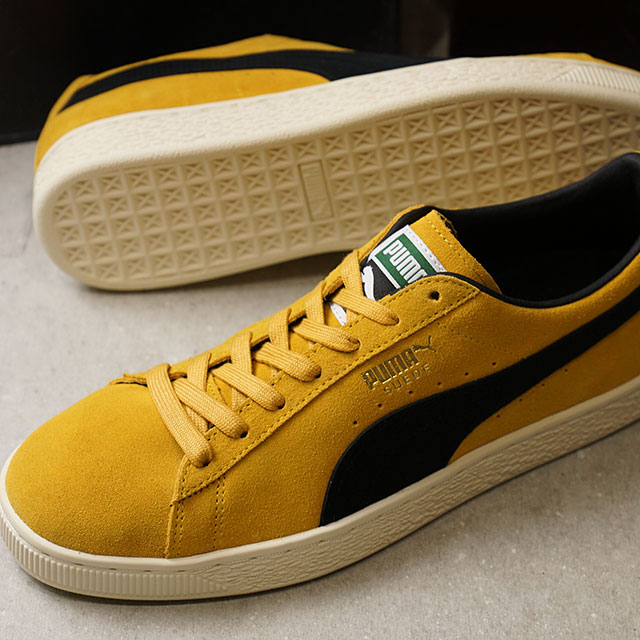 online store ced9d 59d50 PUMA Puma suede men SUEDE CLASSIC ARCHIVE suede cloth classical music  archive MINERAL YELLOW/PUMA BLACK shoes (365,587-03 SS18)