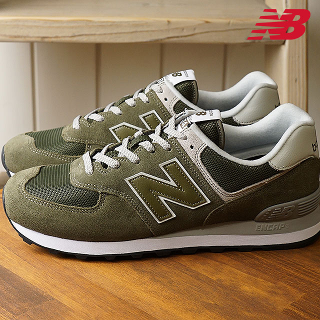 newbalance New Balance men Lady's D Wise ML574 EGO olive sneakers (ML574EGO SS18)